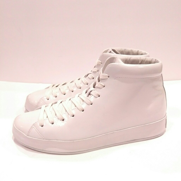 Rag and Bone Rag & Bone Patent RB1 High-Top Sneakers